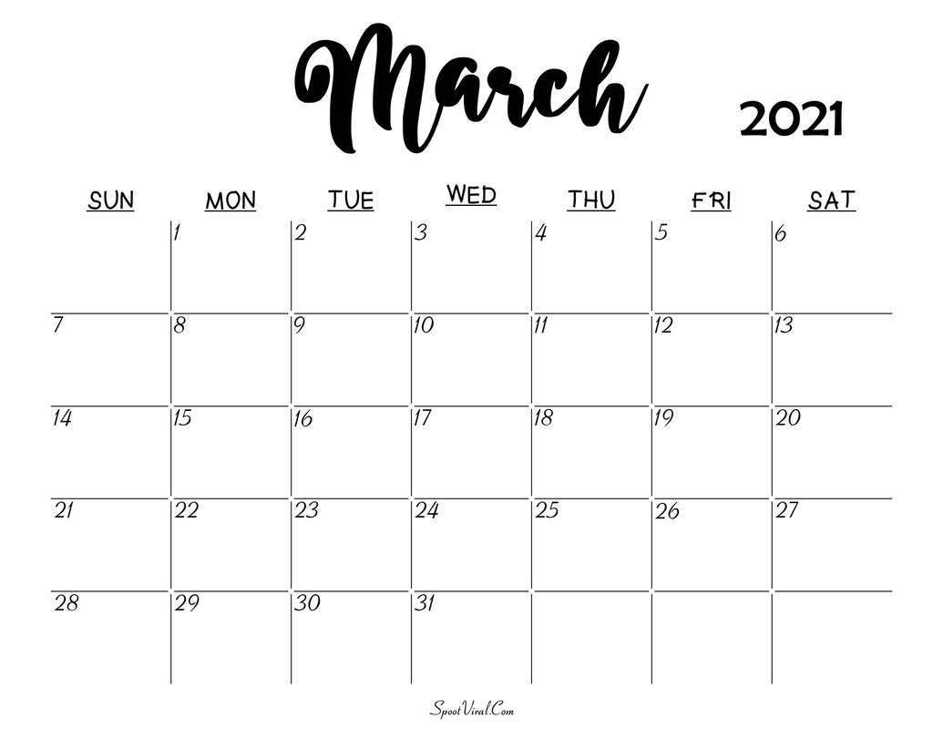 Pastel colored February Calendar